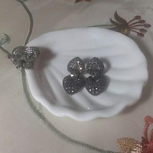Lovely marcasite Sterling earrings